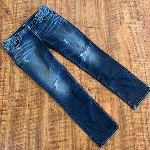 Silver Berkley Straight Jeans Distressed Size 32